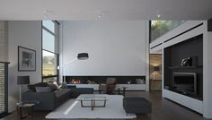 Spacious living room with clean cuts