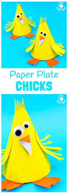 This Paper Plate Chick Craft is such a fun Spring craft for kids and of course it's a lovely Easter craft too. This simple paper plate craft is adorably cute and great for preschoolers. Animal Crafts For Kids, Spring Crafts For Kids, Crafts For Kids To Make, Toddler Crafts, Craft Kids, Creative Activities For Kids, Creative Arts And Crafts, Paper Plate Crafts, Paper Plates