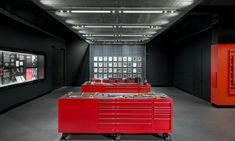 A toolbox aesthetic is on-brand for the new Snap-on Museum at the company's headquarters in Kenosha, Wisc.
