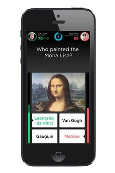 QUIZ UP: ...Enter Quiz Up, the social trivia game. Topics range from classic literature and physics to Beyonce, so you don't have to suffer through anything that isn't interesting to you. Each match is quick, 70 seconds, so it fits into your busy schedule. Play with strangers from all around the world, or challenge your friends.:
