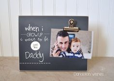 This frame is such a sweet Father's Day gift! Great for dad's office or workshop!   by Dandelion Wishes