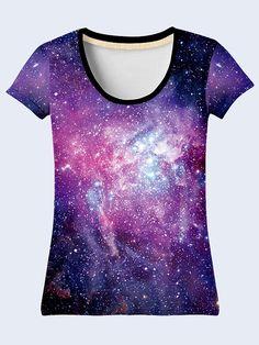 Lespace T Shirt Mesdames coloré dessus mauve T Shirt par NewVelikan