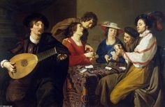 Theodore Rombouts (1597-1637) Joueurs de cartes .