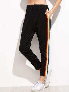 Shop Contrast Rainbow Stripe Pants online. SheIn offers Contrast Rainbow Stripe Pants & more to fit your fashionable needs.