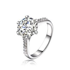 Charming Silver Plated Rhinestone Wedding Ring For Women #CLICK! #clothing, #shoes, #jewelry, #women, #men, #hats, #watches