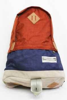 Rakuten WILDERNESS EXPERIENCE (Wilderness Experience) ASPEN254 DAY-PACK LIMITED (COLOR: RUST / NAVY) [05P02Mar14] [RCP]: REDWOOD