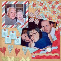 My Dudas, digital scrapbook page, family