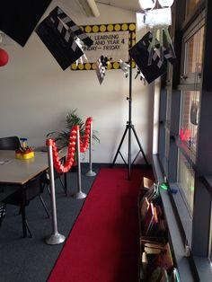 Lights-camera-action classroom display/reading corner