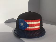 Puerto Rico BORICUA Rican P.R BASEBALL CAP FLAG LEGO BLOCK