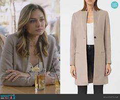 Megan's grey coat on The Arrangement. Outfit Details: https://wornontv.net/99352/ #TheArrangement