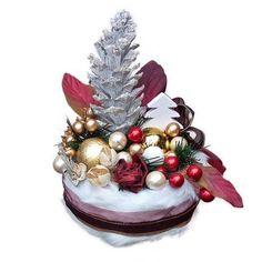 Karácsonyi asztaldísz – fenyőfás