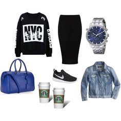 Shopping day by mamjur1972 on Polyvore featuring moda, J.Crew, Miss Selfridge, NIKE, Yves Saint Laurent and Tommy Hilfiger