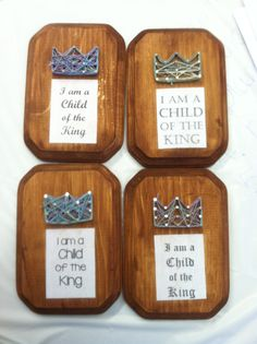 """Nail and string art. """"I am a child of the King"""".... VBS craft"""