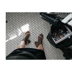 Da fishnet in Maison Margiela sandals | #ootd #photooftheday #lotd #styleblog #fblogger #streetstyle #nycblogger #fwis  #时尚 #街拍 #纽约时尚 #일상 #데일리룩 #ihaveathingforfloor #minimalist #fashionforward  #fishnet #edgychic #maisonmargiela #chanelbag #monochrome