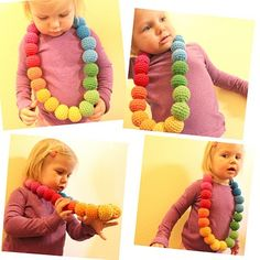 Rainbow Necklace - Skill Level: Easy Peasy by Easy Makes Me Happy