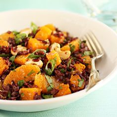 Black Rice, Butternut Squash, Orange & Cashew Salad and Two Science Experiments