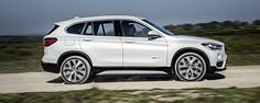 The all new 2016 BMW X1 xDrive28i in Mineral White.