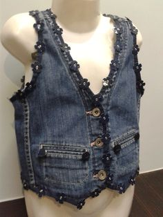 DENIM.Embellished ..BABY BLUES ' Wanta waistcoat'  WAISTCOAT. £15.00