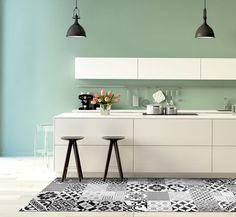 Osez le vinyle effet carreaux de ciment dans la cuisine