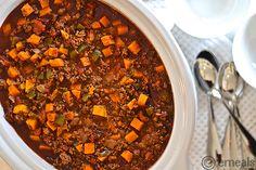 Paleo Slow-Cooker Ground Beef-Sweet Potato Chili