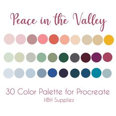 Flat Color Palette, Colour Palettes, Color Combos, Color Schemes, Peace In The Valley, Lost In The Woods, Etsy App, World Of Color, Color Swatches