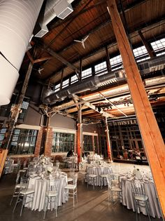 Reception in the Hall at Steam Whistle Brewery Wedding Inspiration, Wedding Ideas, Best Wedding Venues, Reception Table, Bricks, Brewery, Elegant Wedding, Getting Married, Real Weddings