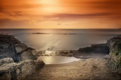 sunset on Roman remains by mauro maione