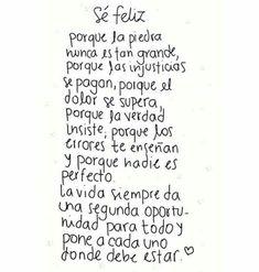Sé feliz...