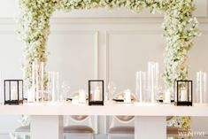 Event Design is an award-winning events company based in Toronto White Cherry Blossom, Cherry Blossom Wedding, Wedding Decorations, Table Decorations, Event Company, Taper Candles, Event Decor, Corporate Events, Event Design