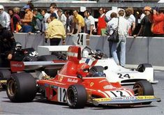#12 Niki Lauda... Scuderia Ferrari SpA SEFAC...Ferrari 312B3-74...Motor Ferrari 001/11 F12 3.0...#24 James Hunt...Hesketh Racing...Hesketh 308...Motor Ford Cosworth DFV V8 3.0...GP Suecia 1974