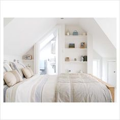 Bedroom concept - seeing through to an en suite - open and airy.