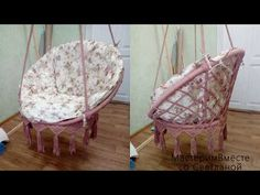 Free workshop - class How to weave a hanging chair Macrame Hanging Chair, Macrame Chairs, Hanging Beds, Macrame Art, Macrame Projects, Hanging Chairs, Diy Chair, Basket Weaving, Handmade Crafts