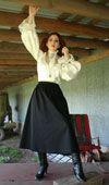 Steam Punk Threads  vintage clothing  Victorian Blouse, skirt and shoes.  LOVE  found @steampunkthreads.com