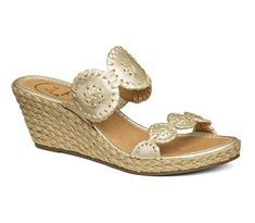 Shop Women's Jack Rogers Gold size Wedges at a discounted price at Poshmark. Description: Jack Rogers Shelby Wedge Size in Platinum - New In Box. Sold by Fast delivery, full service customer support. Blue Wedge Sandals, Blue Wedges, Gold Wedges, Jelly Sandals, Leather Wedge Sandals, Wedge Shoes, Espadrille Wedge, Shoes Sandals, Toe Shoes