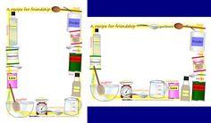 Recipe for friendship A4 page borders (SB2087) - SparkleBox
