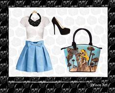 Alice look #AliceInWonderland #PrisonArt #OutfitPrisonArt