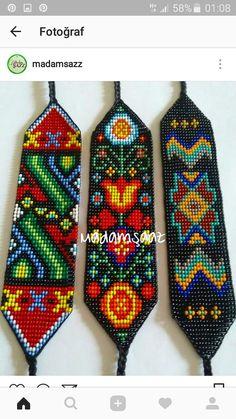 Loom Bracelet Patterns, Bead Loom Bracelets, Bead Loom Patterns, Peyote Patterns, Macrame Patterns, Beading Patterns, Seed Bead Projects, Beading Projects, Native Beadwork