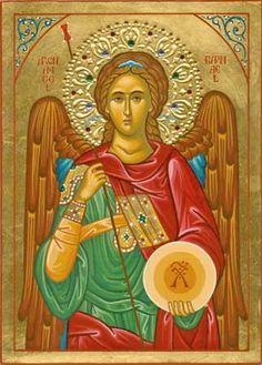Eastern orthodox icon of Archangel Raphael. Religious Images, Religious Icons, Religious Art, Catholic Archangels, St Raphael, Raphael Angel, San Rafael, Byzantine Icons, Byzantine Art