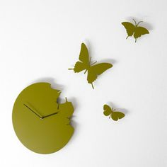 Time flies... awesome Italian butterfly clock by Diamantini & Domeniconi.