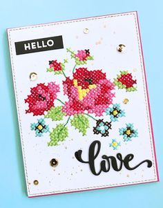 stitches in paper: Cross Stitching on Cards With No Dies