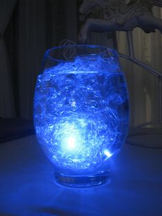 Submersible LED light, cellophane & water.  What could be easier?