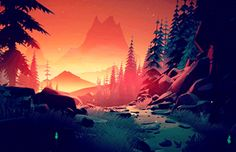 Immerse your self in these short but beautifully rich animated nature GIFs by artist Mikael Gustafsson of Stockholm, Sweeden. Fantasy Landscape, Landscape Art, Fantasy Art, Pixel Art, Grafic Design, Anime Body, Anime Pokemon, 1366x768 Wallpaper, Tumblr Wallpaper