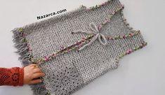 BUGÜN ÖRDÜM YARIN GİYECEĞİM KADIN YELEĞİ TAM AÇIKLAMALI Baby Knitting Patterns, Knitting Stitches, Knitting Designs, Knitting Socks, Bead Embroidery Tutorial, Beaded Embroidery, Gilet Crochet, Knit Crochet, Easy Crochet