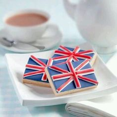 Union Jack Biscuits with Tea
