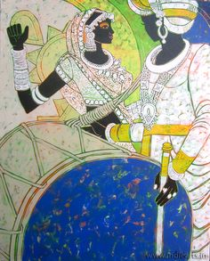 Painting of one of the best Indian Contemporary Artist Anuradha Thakur...