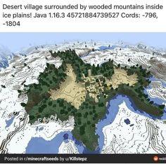 Minecraft Seed, Minecraft Plans, Minecraft Funny, Amazing Minecraft, Minecraft Tutorial, Minecraft Blueprints, Minecraft Art, How To Play Minecraft, Minecraft Crafts