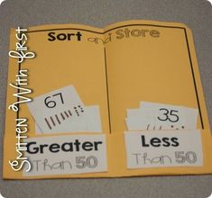 Sort & store folder for greater than and less than numbers