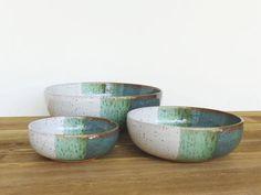 Cuencos de cerámica gres cerámica anidar en bruma de mar y