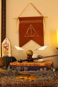The Deathly Hallows... I made this for my Harry Potter Shrine to decorate my house for Halloween this year.