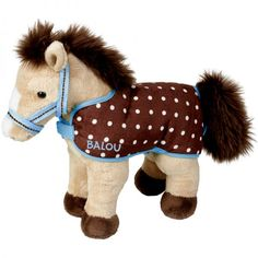 Cuddly Pony Balou Is The Perfect Soft Toy For Any Bedroom Comes With A Coordinating Rug Headcollar Size Rox 27 X 23 Cm